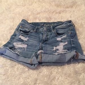 AEO distressed shorts